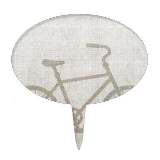 El vintage de la bici se divierte destino del amor decoración de tarta