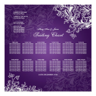 El vintage de la carta del asiento del boda remoli poster