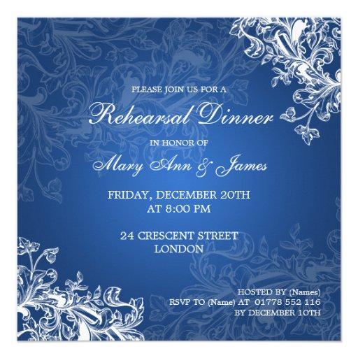 El vintage de la cena del ensayo del boda remolina comunicado personal