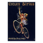 El vintage de la publicidad de la bicicleta comple poster