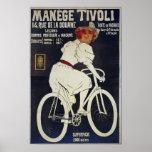 El vintage de la publicidad de la bicicleta maneja impresiones