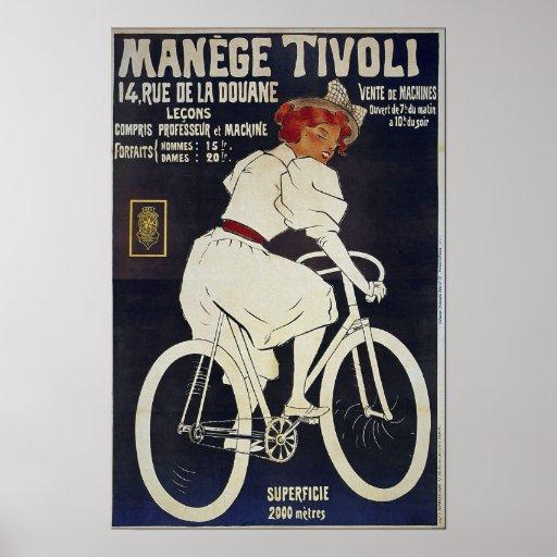 El vintage de la publicidad de la bicicleta maneja póster