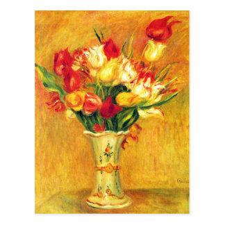 El vintage de Renoir de los tulipanes florece Postales