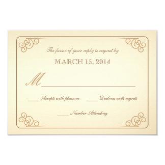El vintage de RSVP enrolla la tarjeta de Invitacion Personalizada