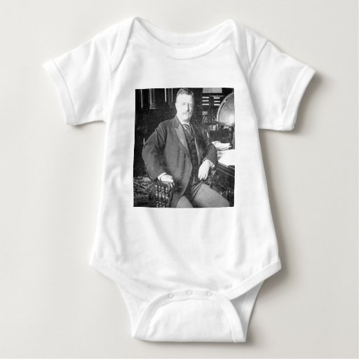El vintage de Teddy Roosevelt de los alces de Bull Body Para Bebé
