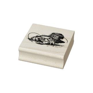 El vintage del cangrejo de ermitaño grabó al agua sello de caucho