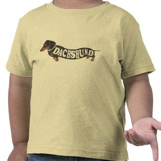 El vintage del Dachshund embroma la camiseta