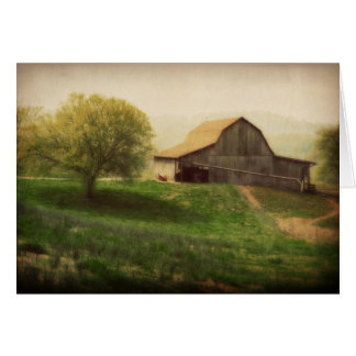 El vintage del granero del país le agradece tarjeta de felicitación