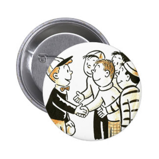 El vintage del kitsch embroma a buenos compinches pin redondo de 2 pulgadas
