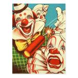 El vintage del kitsch nunca confía en a un payaso tarjetas postales