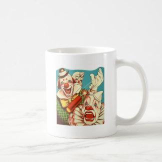 El vintage del kitsch nunca confía en a un payaso taza de café