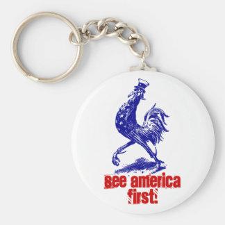 ¡El vintage del llavero considera América primero!