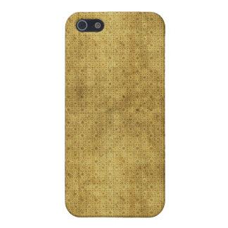 El vintage del oro de Brown puntea el caso del iPh iPhone 5 Carcasas