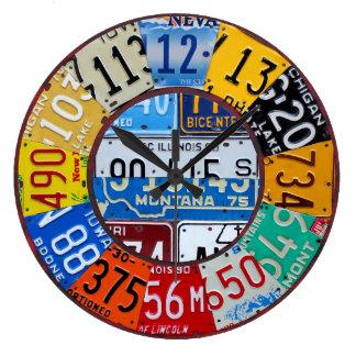 El vintage del reloj de la placa numera arte de la