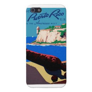 El vintage descubre el poster de Puerto Rico los iPhone 5 Carcasa