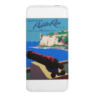 El vintage descubre el poster de Puerto Rico WPA Bolsillo Para iPhone