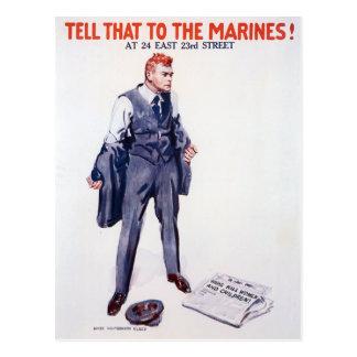 El vintage dice eso al reclutamiento de los tarjetas postales