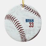 el vintage diseñó el ornamento de la bola del béis ornamento para reyes magos