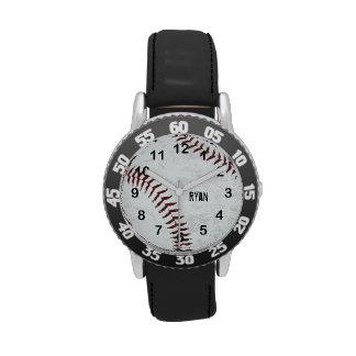 el vintage diseñó la bola del béisbol - costura ro reloj