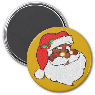 El vintage diseñó la imagen negra de Santa Imán Redondo 7 Cm