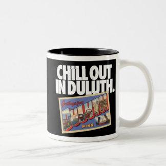 El vintage Duluth Minnesota se enfría hacia fuera Taza De Dos Tonos