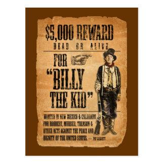 El vintage el poster quiso/de la recompensa para B Tarjetas Postales