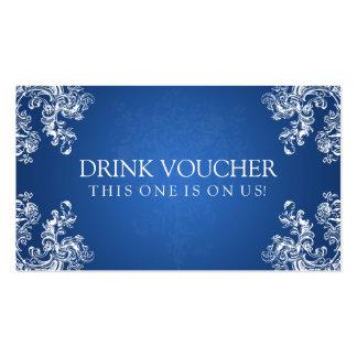 El vintage elegante del vale de la bebida remolina tarjetas de visita