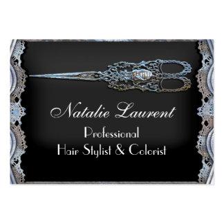 El vintage elegante escarpado Scissor al estilista Tarjetas De Visita Grandes