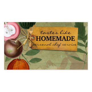 el vintage elegante lamentable da fruto cocinando plantillas de tarjetas personales