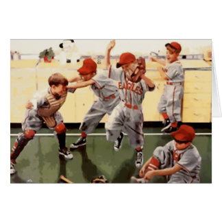 El vintage embroma béisbol felicitación