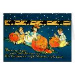 El vintage embroma la tarjeta de Halloween