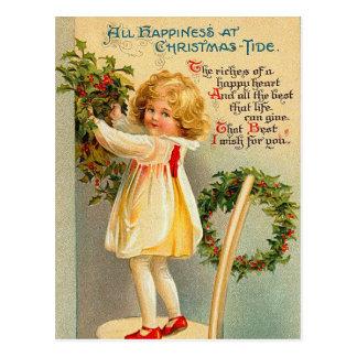 El vintage embroma las postales del navidad