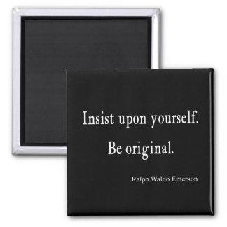 El vintage Emerson inspirado sea cita original Imán Cuadrado