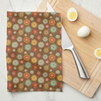 El vintage entona el estampado de flores toalla
