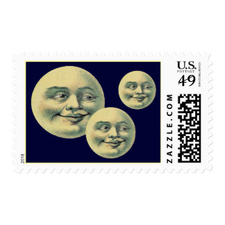 El vintage está en la luna franqueo timbres postales