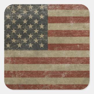 El vintage Estados Unidos señala por medio de una Pegatinas Cuadradas Personalizadas