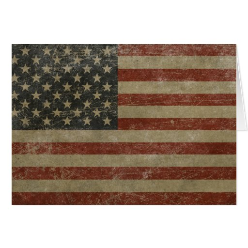 El vintage Estados Unidos señala por medio de una Tarjeta De Felicitación
