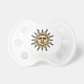 El vintage estilizado Sun hace frente Chupetes De Bebe