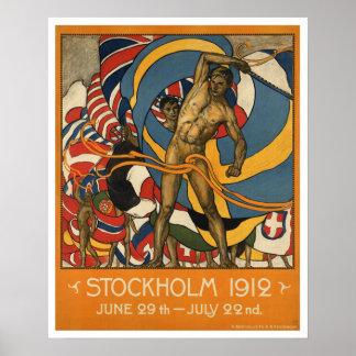 El vintage Estocolmo se divierte Suecia Póster