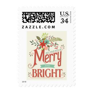 El vintage feliz y brillante de la postal florece envio