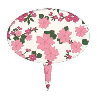el vintage floral florece el fondo del papel figura de tarta