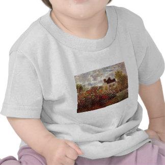 el vintage florece el jardín-en-Argenteuil-sol del Camisetas