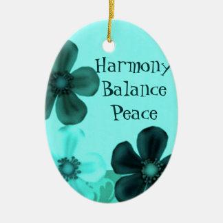 El vintage florece el ornamento del óvalo del ornaments para arbol de navidad