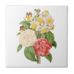 El vintage florece el ramo informal floral por azulejo cuadrado pequeño