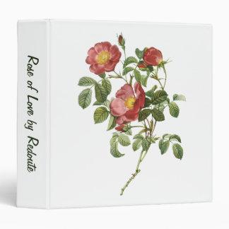 El vintage florece el rosa rojo floral del amor po