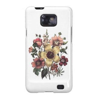 El vintage florece la caja floral del arándano samsung galaxy s2 carcasas