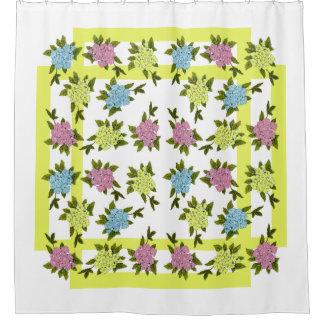 El vintage florece la cortina de ducha cortina de baño