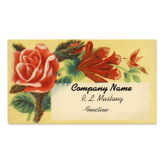 El vintage florece la plantilla de la tarjeta de tarjetas de visita