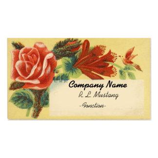 El vintage florece la plantilla de la tarjeta de v tarjetas de negocios
