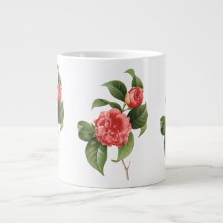 El vintage florece las camelias rosadas rojas flor tazas extra grande